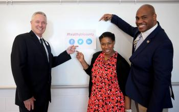 L to R: Mark Dixon, Roper St. Francis; Kellye McKenzie, Trident United Way; Anton Gunn, Medical University of South Carolina