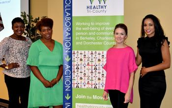 Kim Butler-Willis, Roper St. Francis; Kellye McKenzie, Trident United Way; Brandi Ellison Women's Rights and Empowerment Network; Ebony Hilton-Bucholz, MD, MUSC