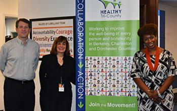 Jeff Burns, Senior Planner, and Vonie Gilreath, Mobility Manager, Berkeley, Charleston, Dorchester Council of Governments with Kellye McKenzie, Trident United Way